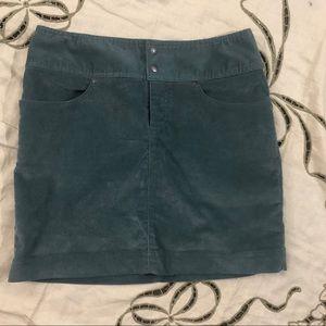 Athleta turquoise Corduroy skirt